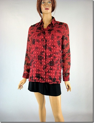 Red Camisole 2 pc shirt 4