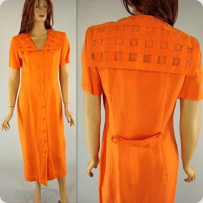 Karen Stevens Orange dress1
