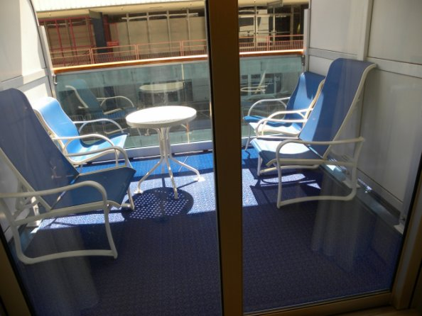 Balcony Furniture On Crown Cat Bb Caribe Deck Cruise
