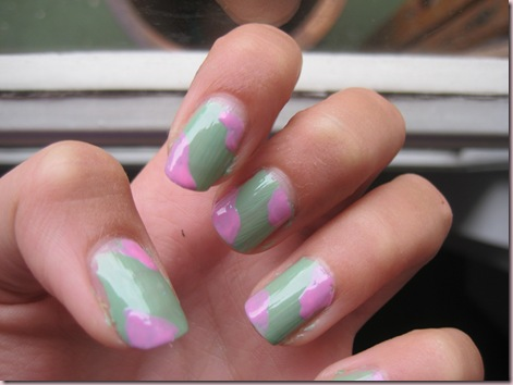 nail art - sweets minty and sugar 115