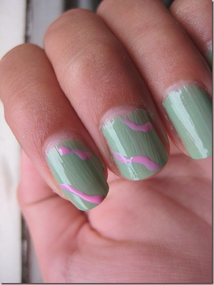 nail art - sweets minty and sugar 107