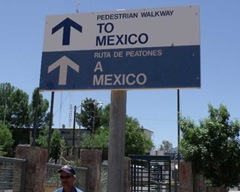 Walkway into Mexico