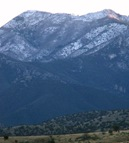 Snow on the Huachuca Mts.