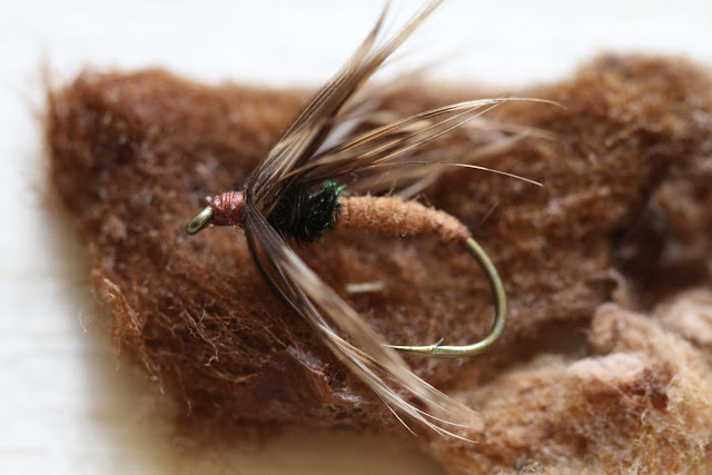 Zenmai kebari flowering fern tenkara fly
