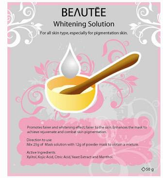 beautee 3d powder mask solution - whiteining
