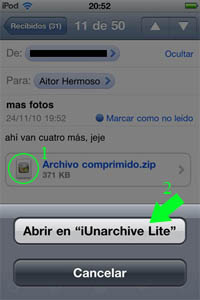 paso%204 ¿Cómo abrir archivos zip en iPhone, iPad o iPod Touch?