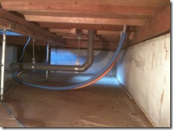 自然素材の家 床下点検