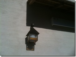 自然素材の家 外照明