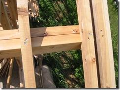 土壁の家 垂木ビス