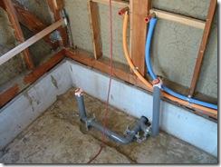 自然素材 浴室給排水