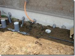 土壁の家 排水