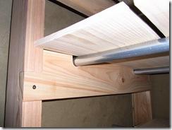 自然素材の家 差し棚