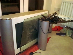 Old CRT television