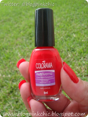 Esmalte Melancia Colorama - Blog Pink Chic