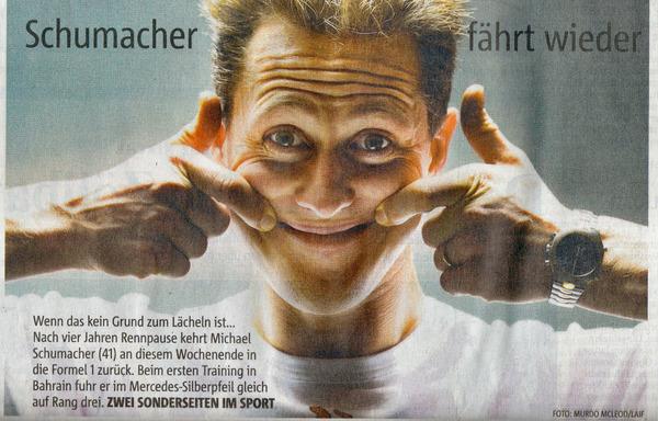 Михаэль Шумахер в немецком журнале