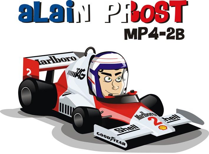 Алан Прост в болиде McLaren