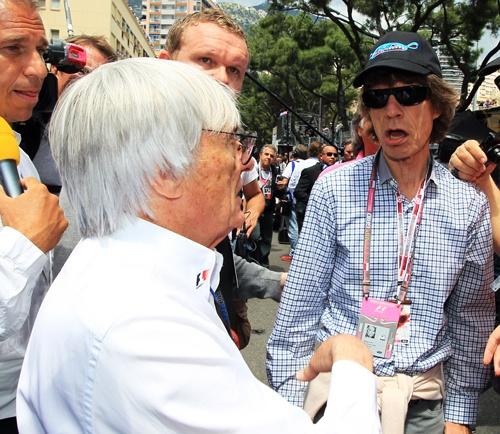 Берни Экклстоун и Мик Джаггер на Гран-при Монако 2010