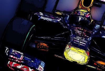 Red Bull Марк Уэббер art