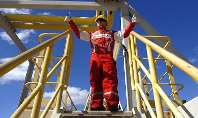 Фелипе Масса на нефтяной вышке FPSO Fluminense
