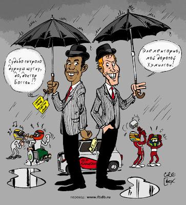 Дженсон Баттон и Льюис Хэмилтон на Гран-при Китая 2010