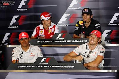 пресс-конференция на Гран-при Великобритании 2010