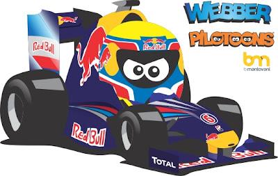 Марк Уэббер Red Bull pilotoons