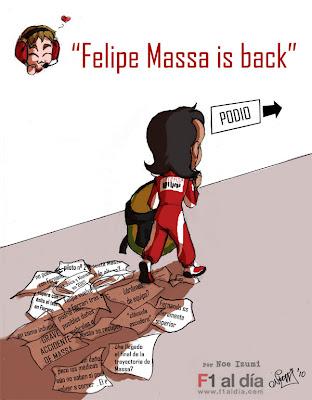 Фелипе Масса вернулся на подиум