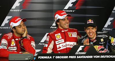 пресс-конференция после гонки Гран-при Германии 2010