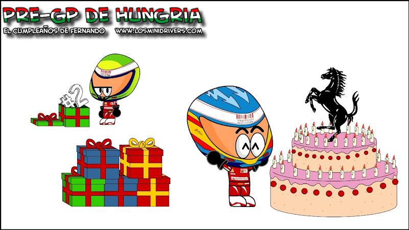 Фернандо Алонсо праздничный торт от Ferrari Los MiniDrivers