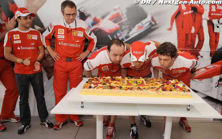Фернандо Алонсо исполнилось 29 лет на Гран-при Венгрии 2010