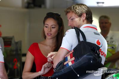 Дженсон Баттон и Джессика Мичибата на Гран-при Венгрии 2010
