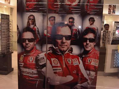 баннер Ferrari в Будапеште на Гран-при Венгрии 2010