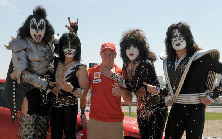 Кими Райкконен и группа Kiss
