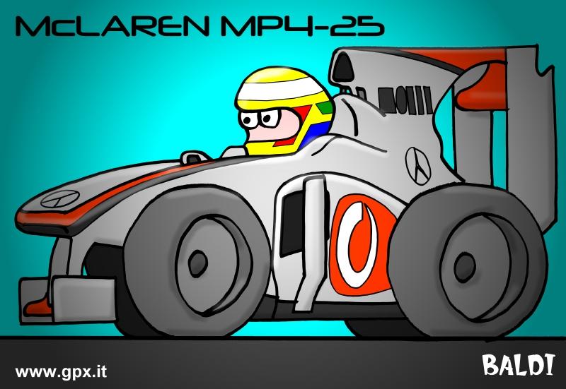 болид 2010 McLaren MP4-25
