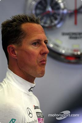 Михаэль Шумахер на Гран-при Бельгии 2010