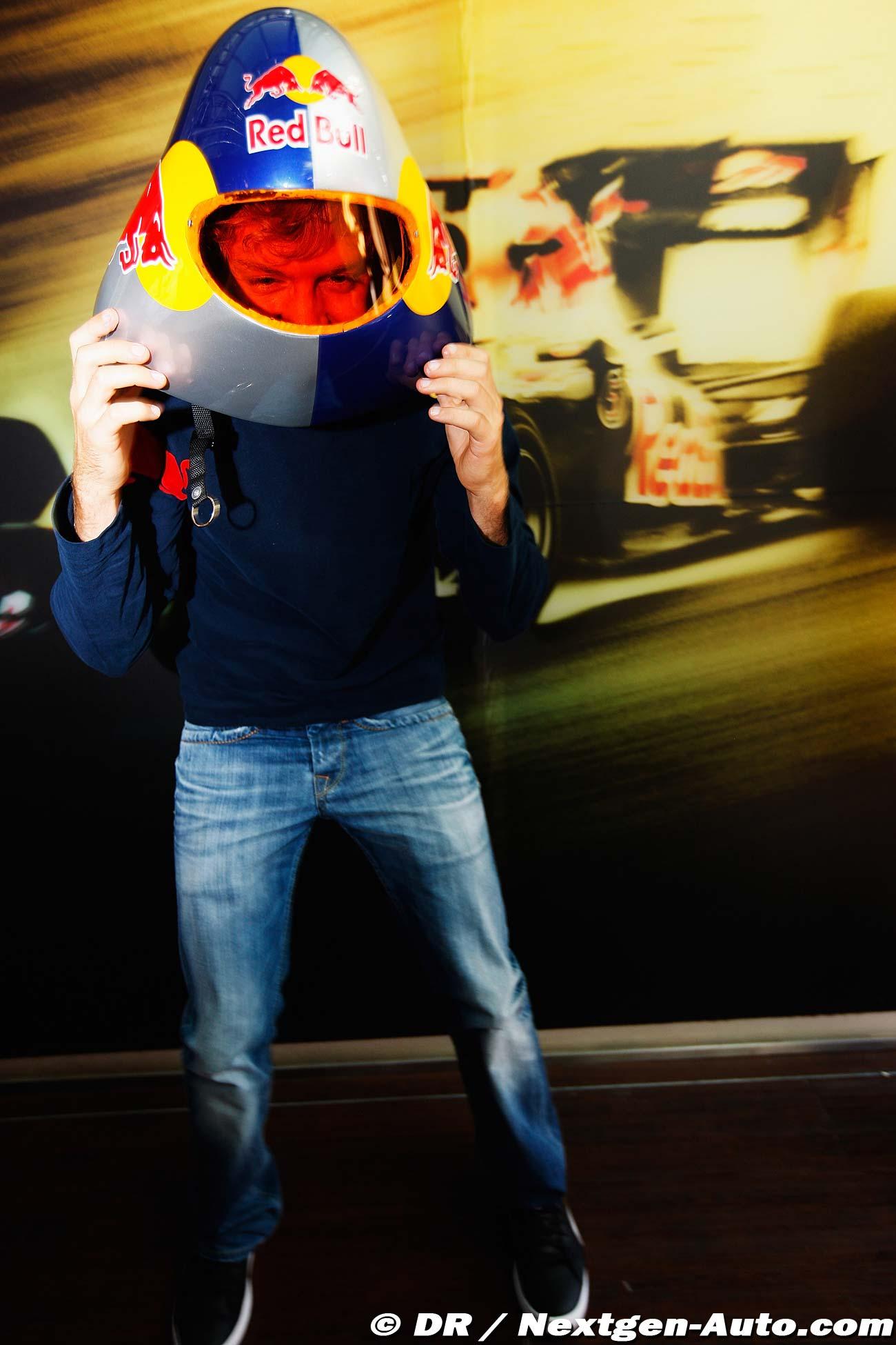 Себастьян Феттель в шлеме для Speed Skiir