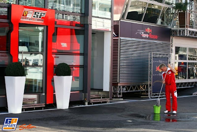 моторхоум Ferrari на Гран-при Италии 2010