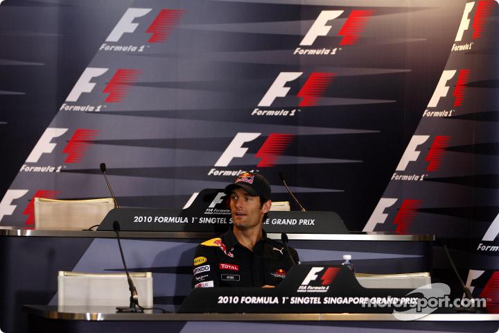 Марк Уэббер зовет всех на пресс-конференцию Гран-при Сингапура 2010