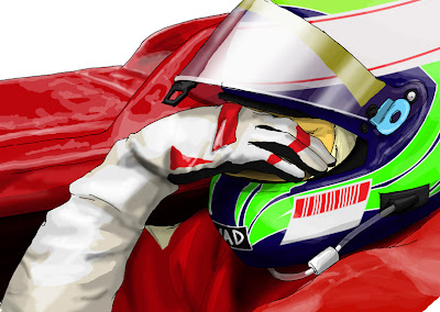 Фелипе Масса рисунок фэйспалм Ferrari
