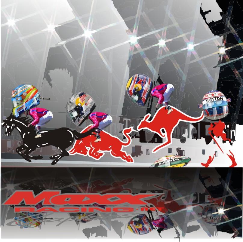 финиш Гран-при Сингапура 2010 Maxx Racing