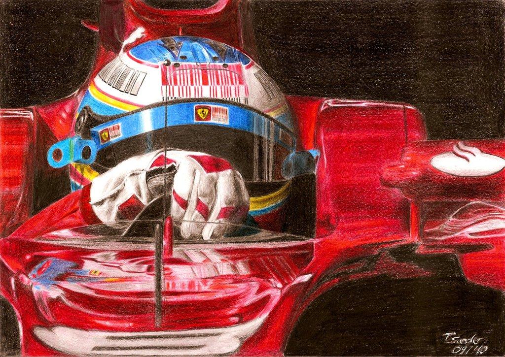 Фернандо Алонсо за рулем Ferrari by SpecialNightStar