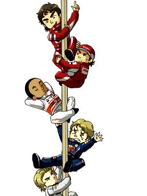финиш Гран-при Бахрейна 2010