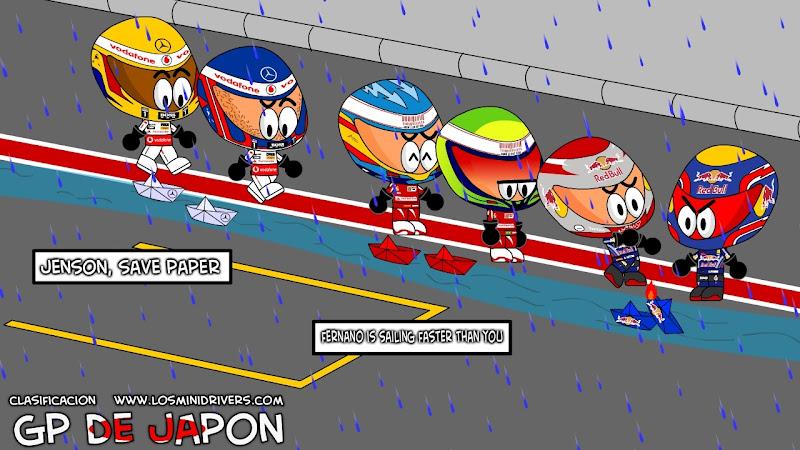 соревнование гонщиков на пит-лейне Сузуки на Гран-при Японии 2010