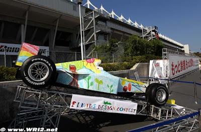 болид Формулы-1 Гран-при Японии 2010