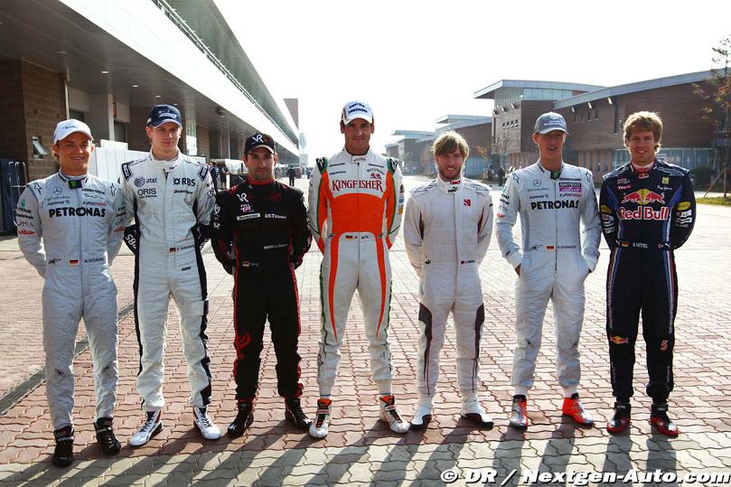 немецкие гонщики ф1 2010 на Гран-при Кореи 2010
