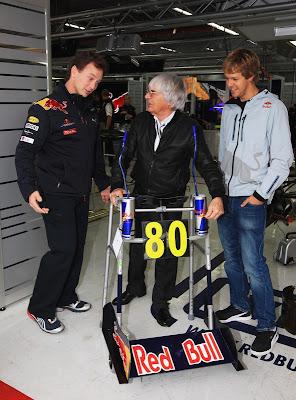 Берни Экклстоун Кристиан Хорнер Себастьян Феттель Red Bull ходули