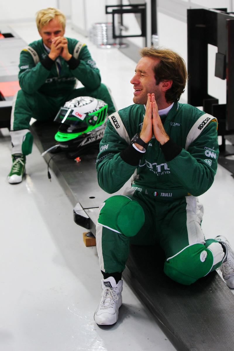 Ярно Трулли и Хейкки Ковалайнен на Гран-при Кореи 2010