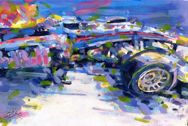 картина Rob Ijbema Марк Уэббер за рулем Red Bull