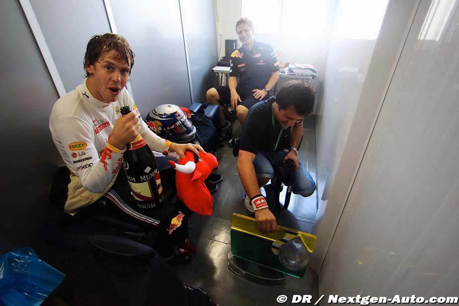 Себастьян Феттель после гонки Гран-при Бразилии 2010