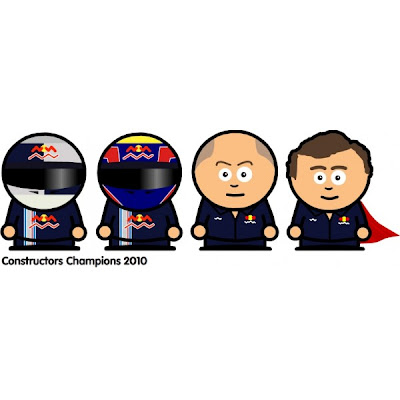 Red Bull становится обладателем кубка конструкторов на Гран-при Бразилии 2010
